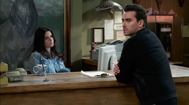 Emily Hampshire and Dan Levy in Schitt's Creek (2015)
