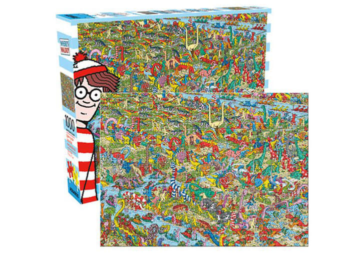 Where's Waldo puzzle on Entertainment Earth.