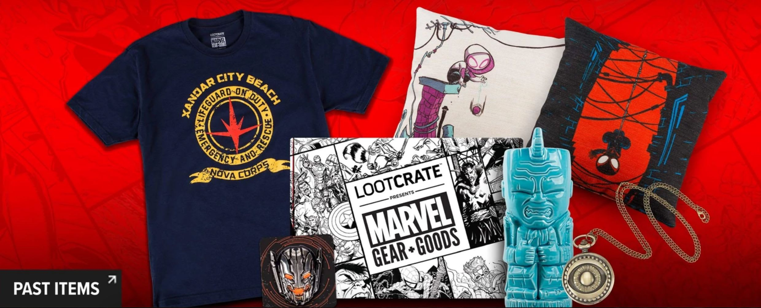 Discover Loot Crate's Official Marvel Home Goods, Apparel and more subscription box.