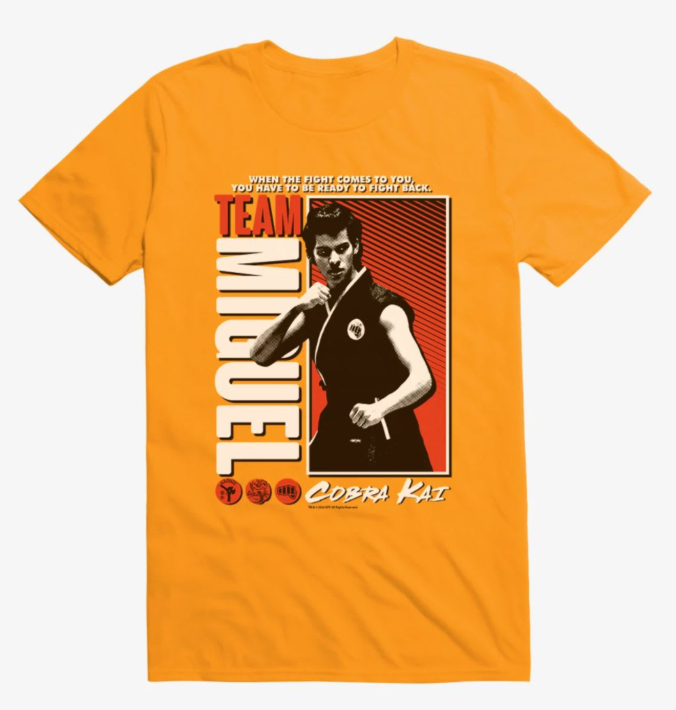 Discover the 'Cobra Kai' Team Miguel shirt at Hot Topic.