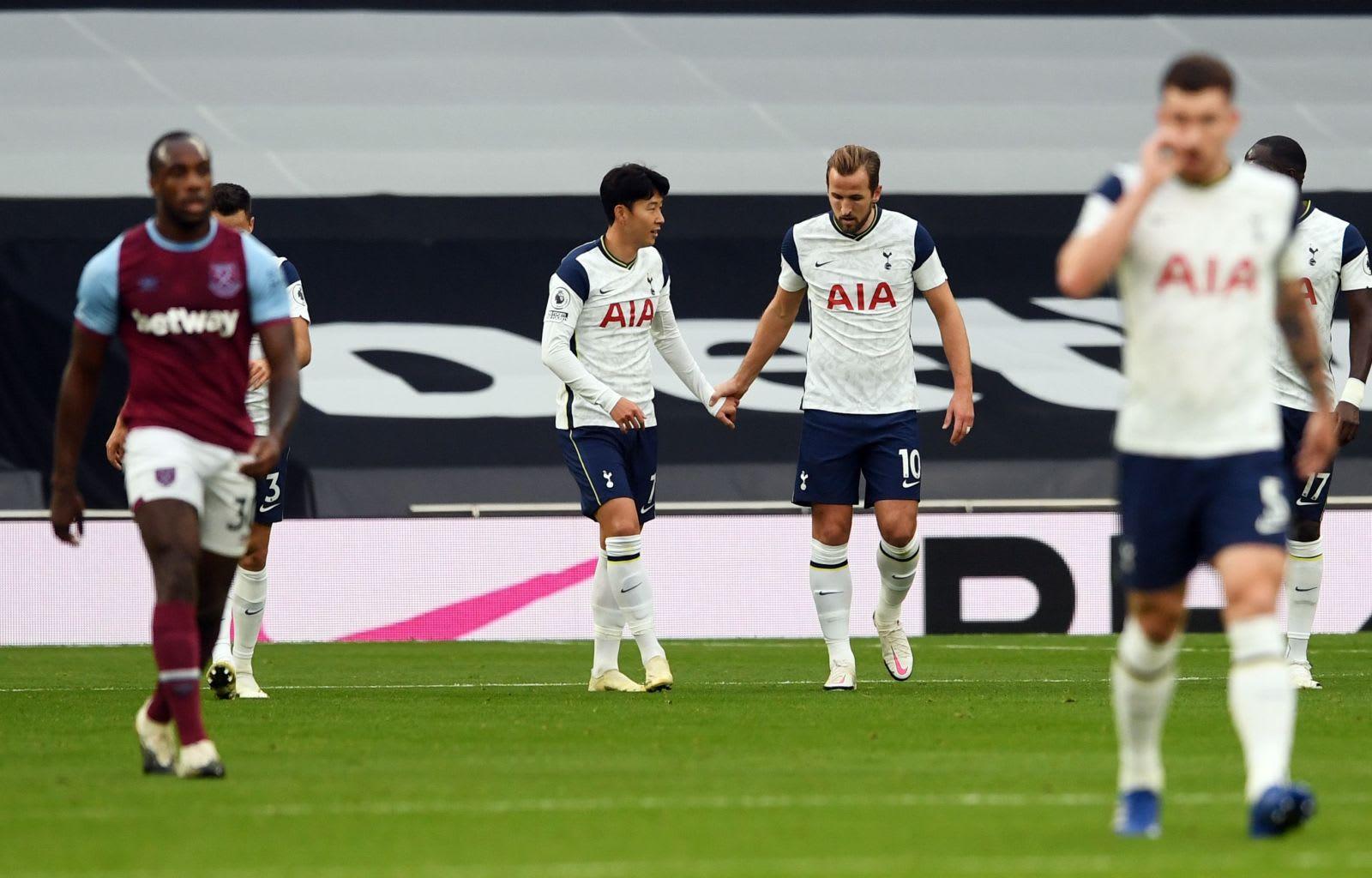 Tottenham Hotspur's strikers Harry Kane and Son Heung-Min