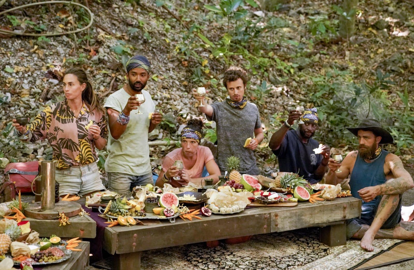 Merge feast cheers Survivor Winners at War episode 8