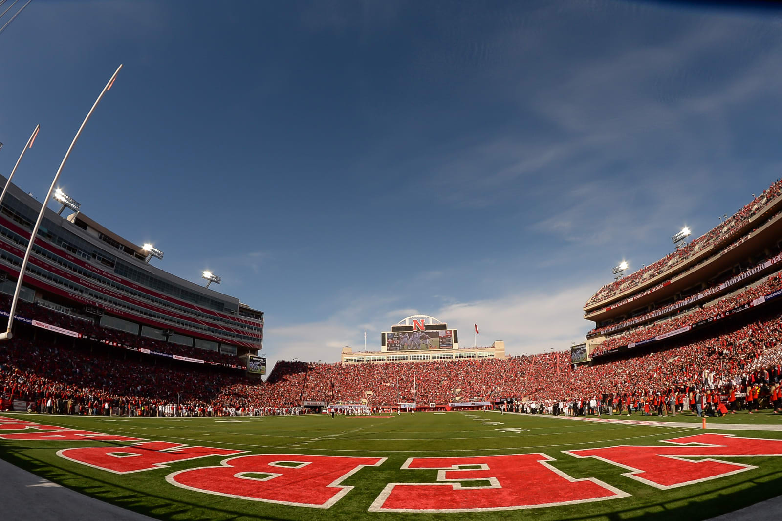 LINCOLN, NE - NOVEMBER 16: General view of the stadium during the game between the Nebraska Cornhuskers and the Wisconsin Badgers at Memorial Stadium on November 16, 2019 in Lincoln, Nebraska. (Photo by Steven Branscombe/Getty Images)