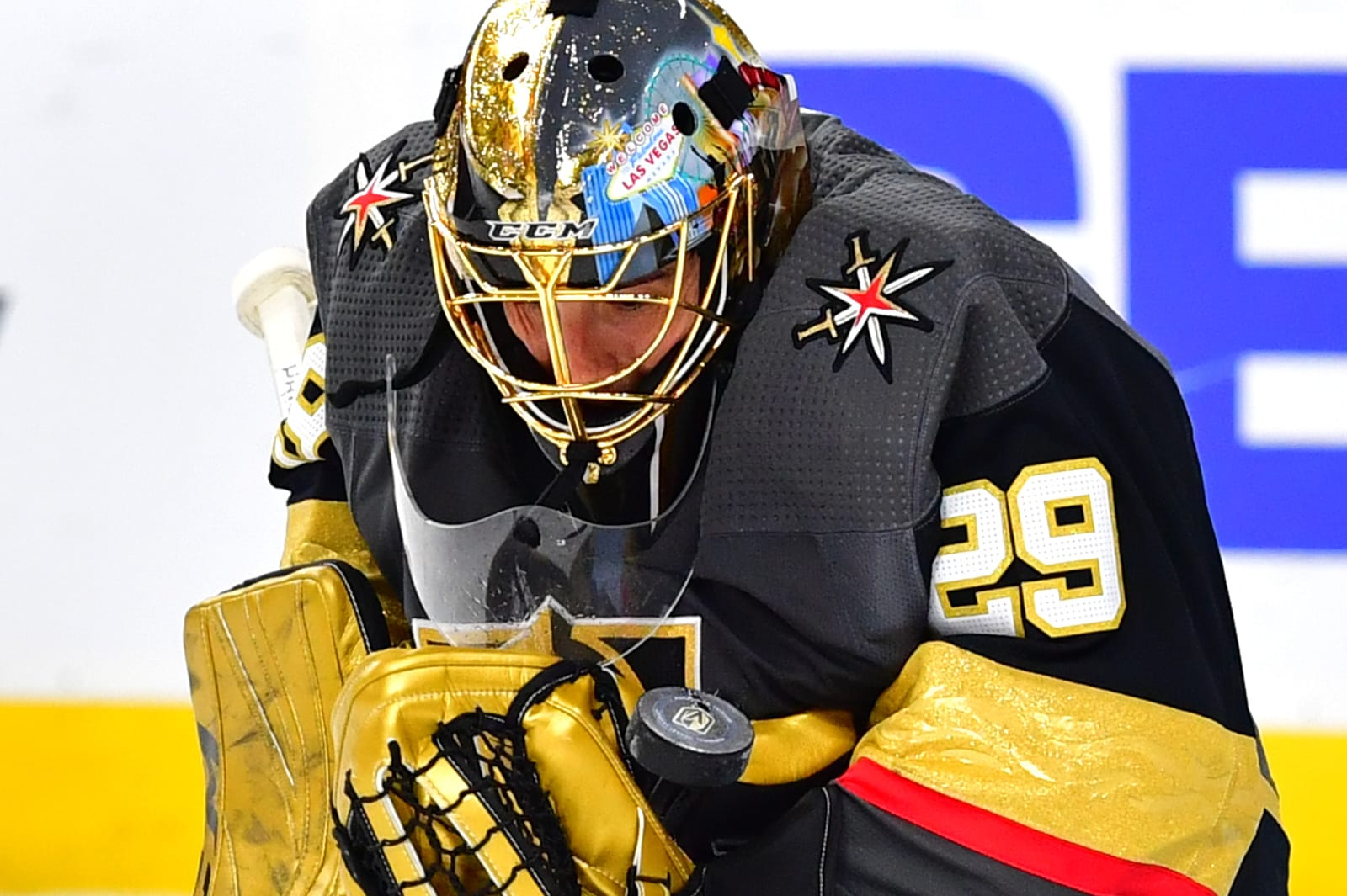 Vegas Golden Knights goaltender Marc-Andre Fleury (29)