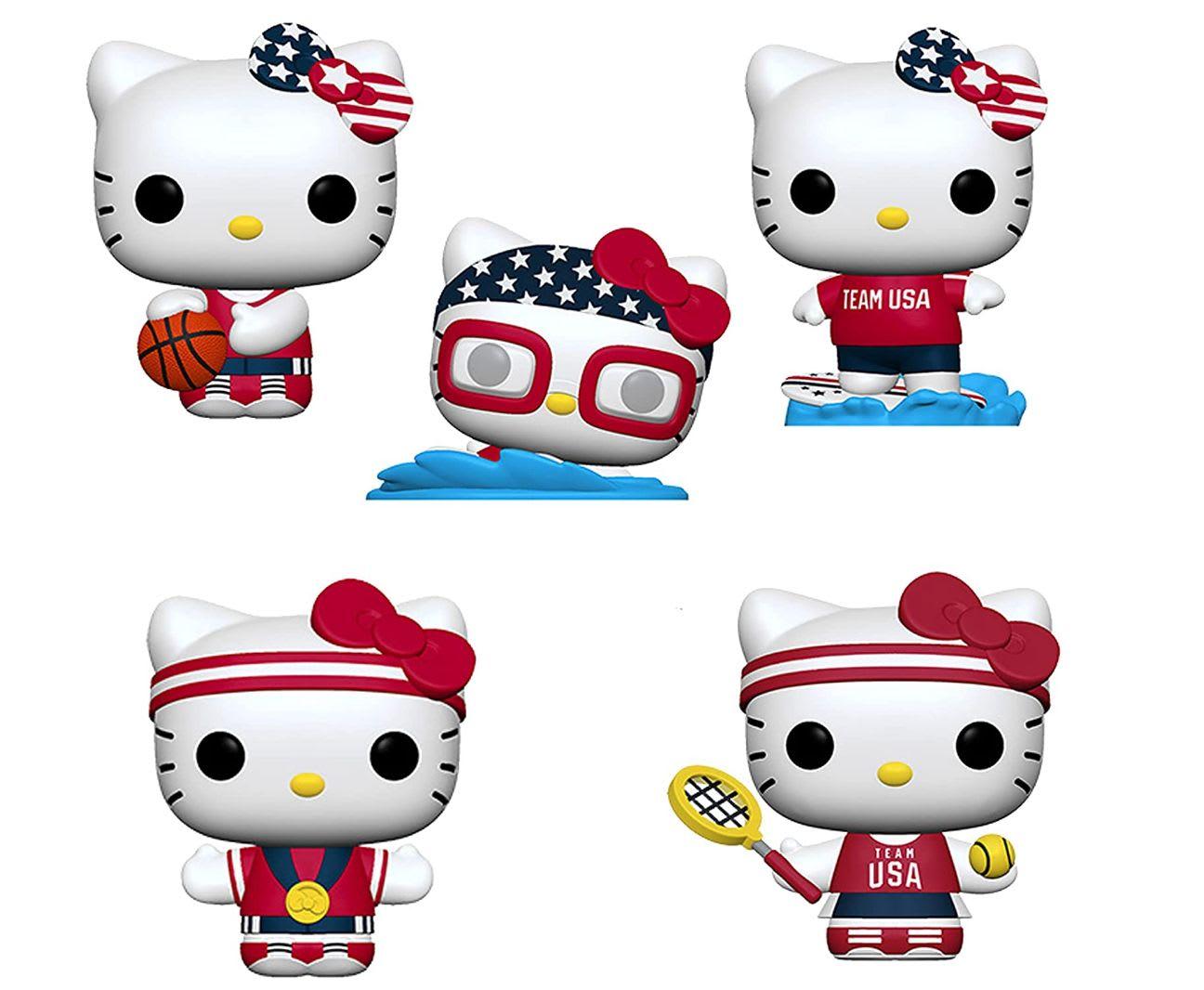 Discover Funko's Hello Kitty x Team USA set of five Pops on Amazon.