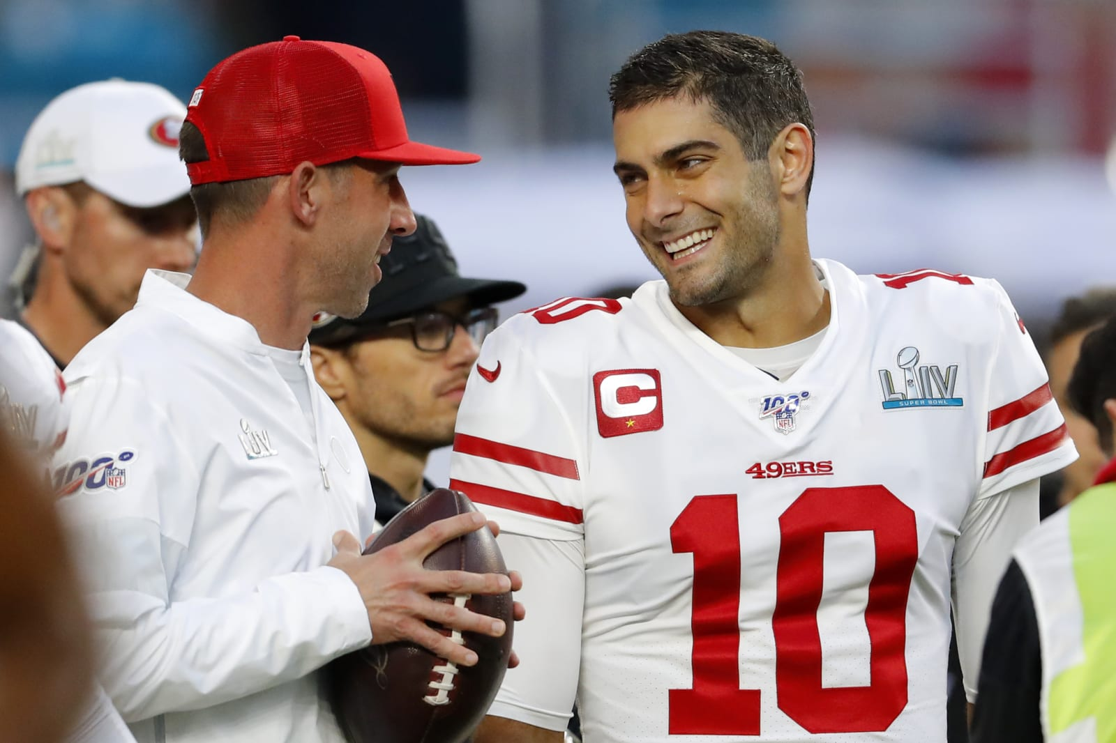Kyle Shanahan, Jimmy Garoppolo, 49ers