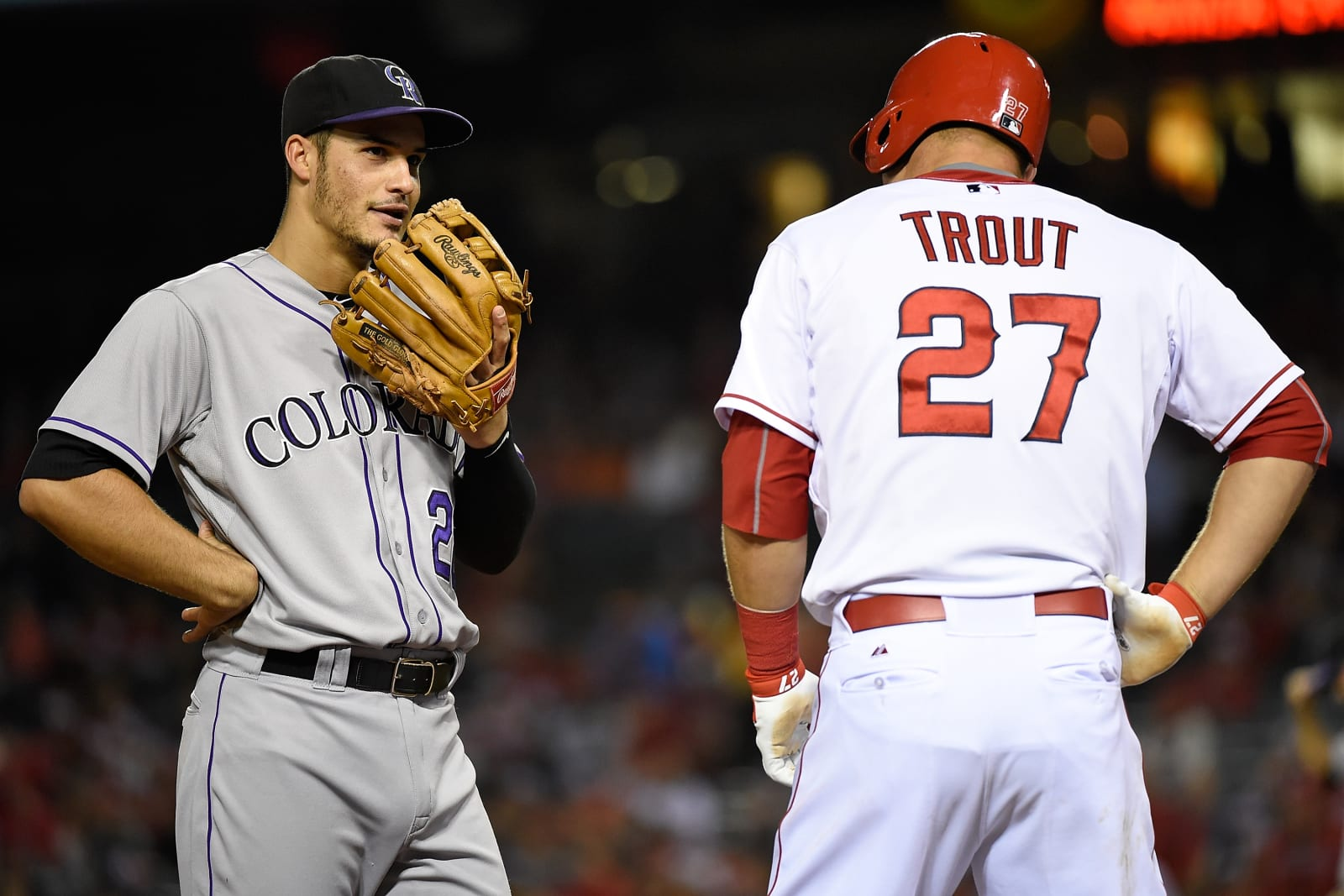 MLB, Mike Trout and Nolan Arenado