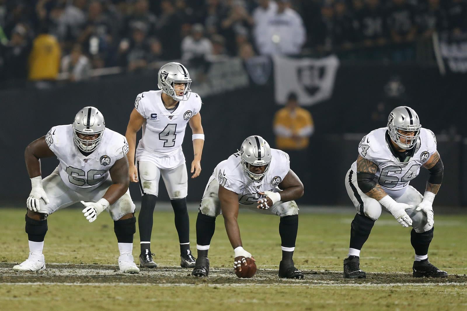 Raiders offensive line