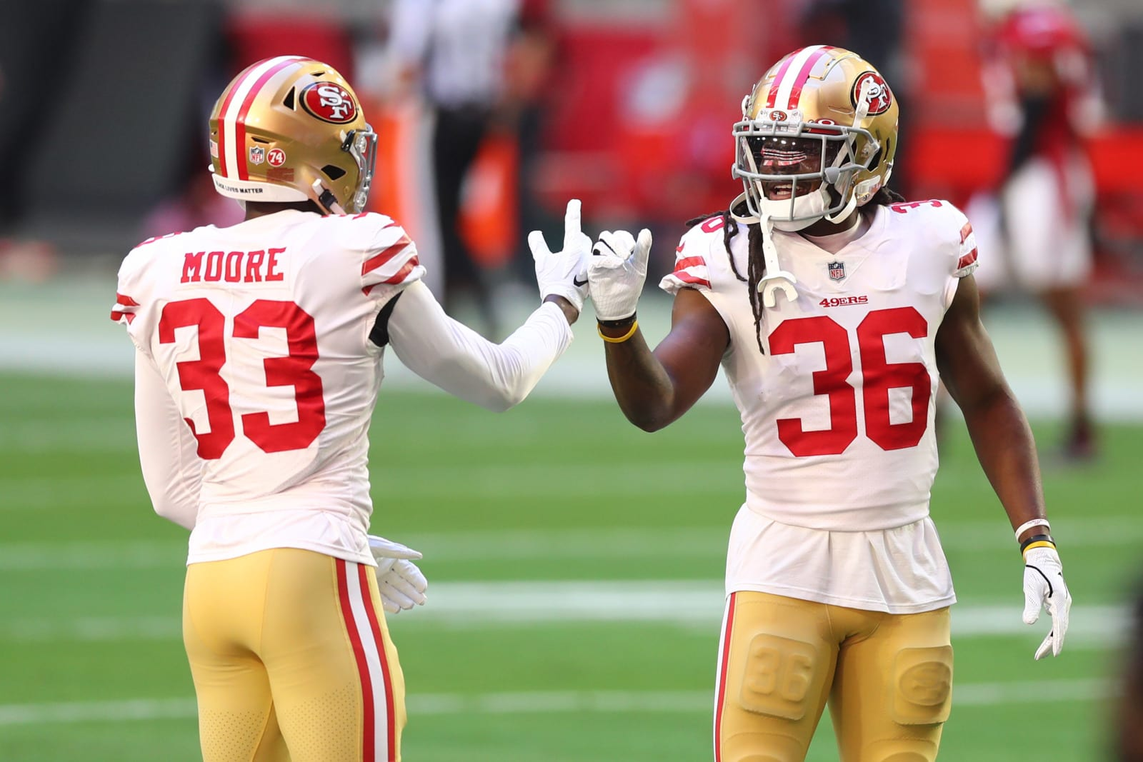 Tarvarius Moore, Marcell Harris, San Francisco 49ers