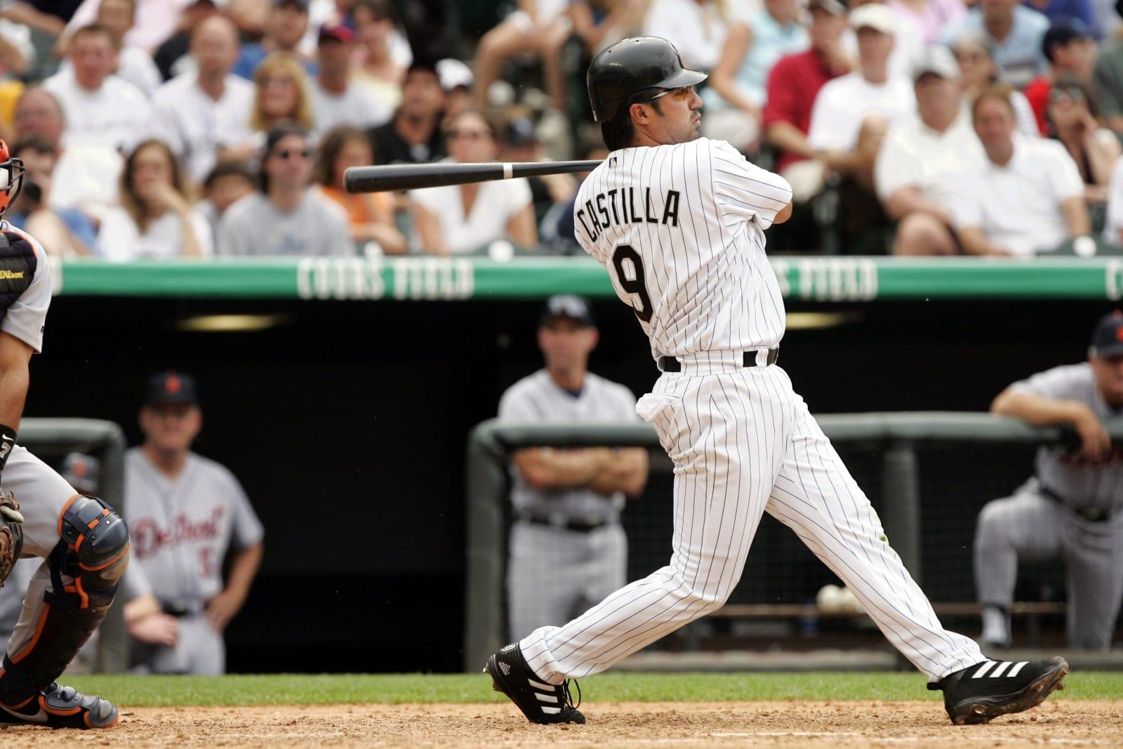 Vinny Castilla batting for the Colorado Rockies