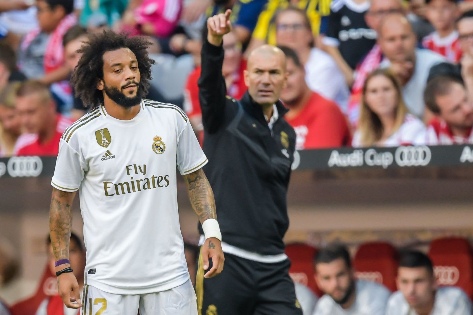 Marcelo and Zidane of Real Madrid