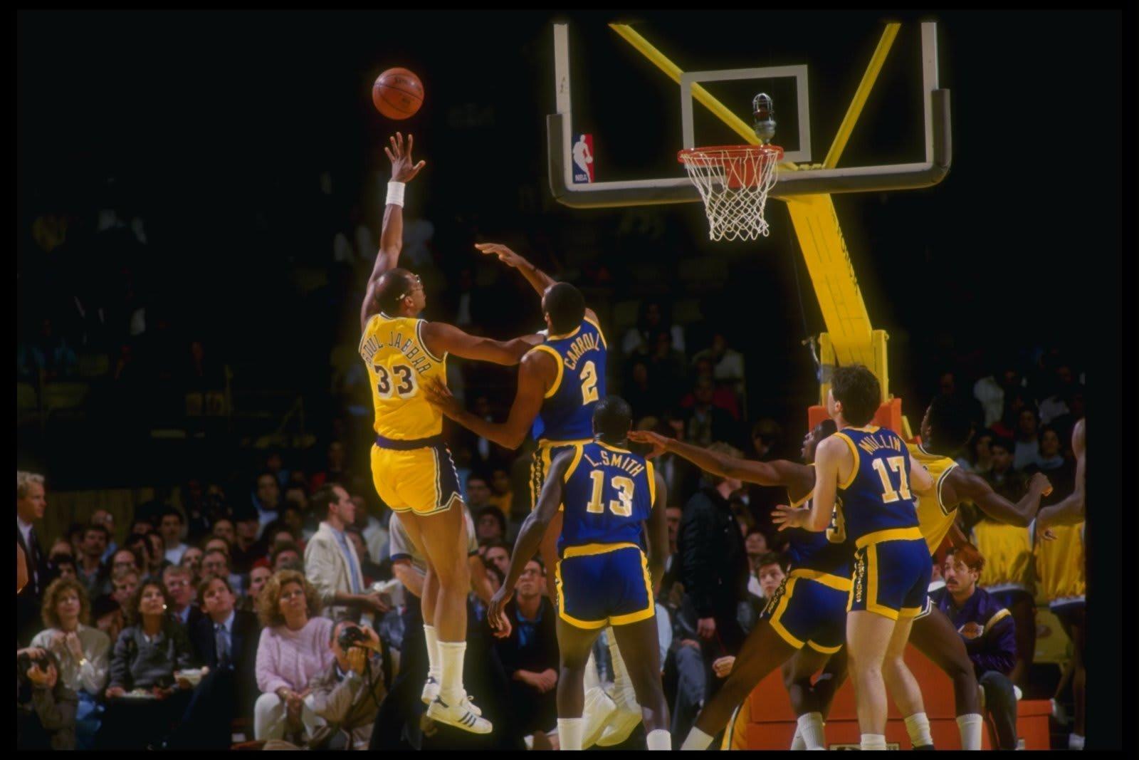 Kareem Abdul-Jabbar, Phoenix Suns (Mandatory Credit: Rick Stewart /Allsport Mandatory Credit: Rick Stewart /Allsport