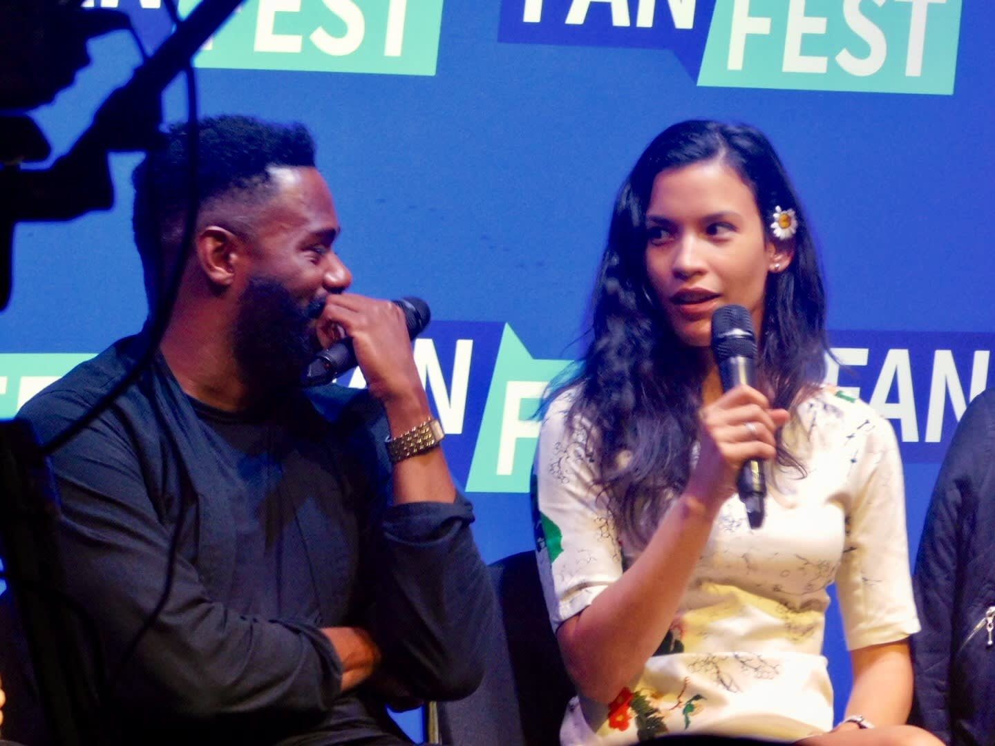 Actors Colman Domingo and Danay Garcia at the Fear The Walking Dead Panel at Fan Fest Nashville Photo credit: Tracey Phillipps