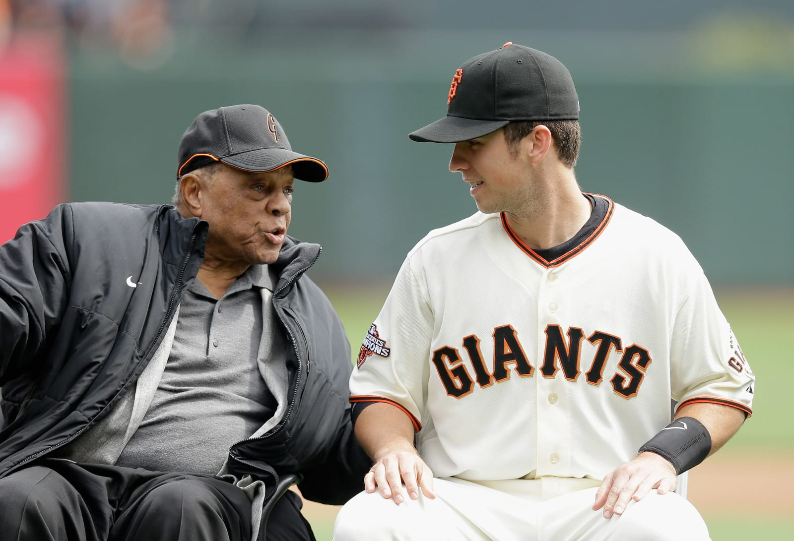 SF Giants, Willie Mays, Buster Posey