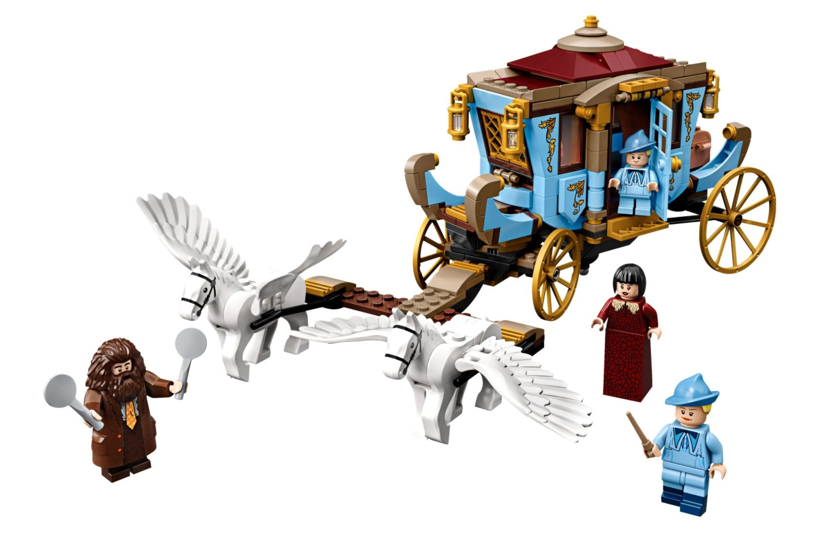 Discover the LEGO Harry Potter Beauxbatons' Carriage: Arrival at Hogwarts set available at LEGO.