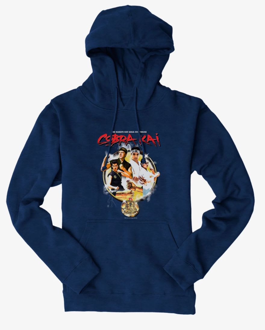 Discover the 'Cobra Kai' the saga continues hoodie at Hot Topic.
