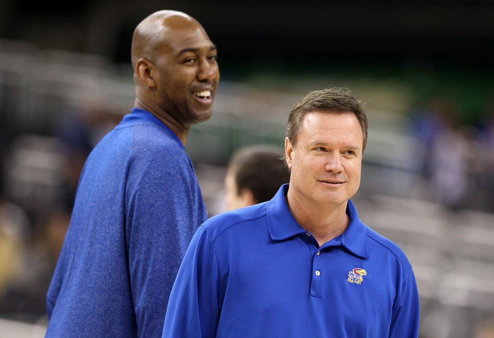 Bill Self, Danny Manning, Kansas Jayhawks