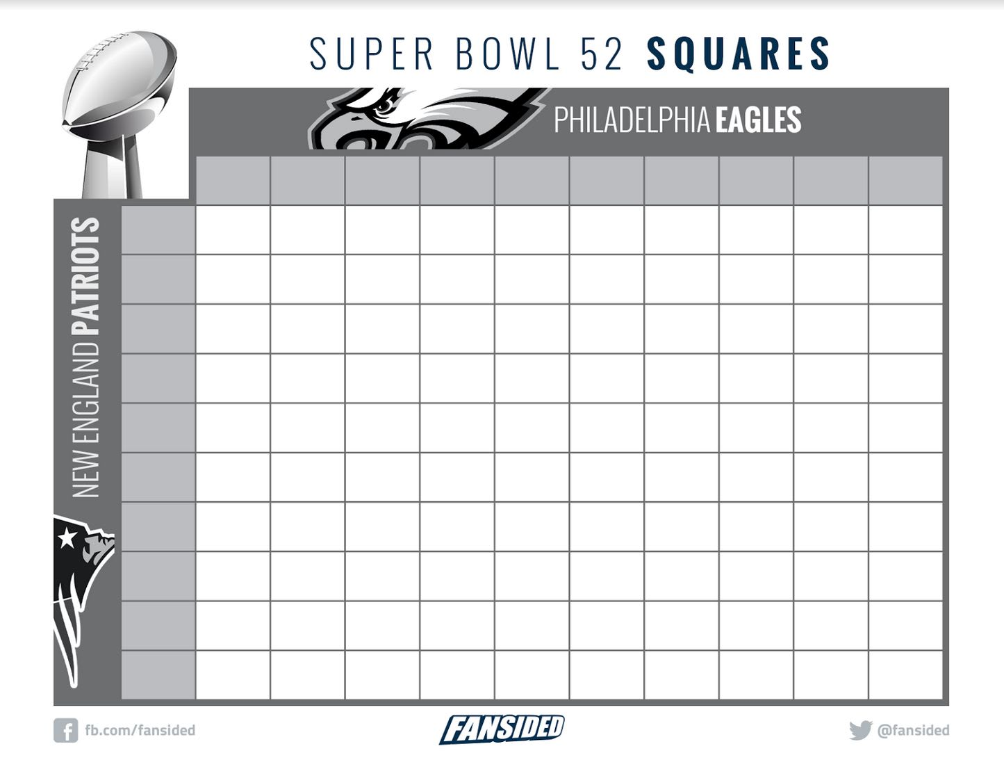 It is a graphic of Super Bowl Squares Printable throughout schedule