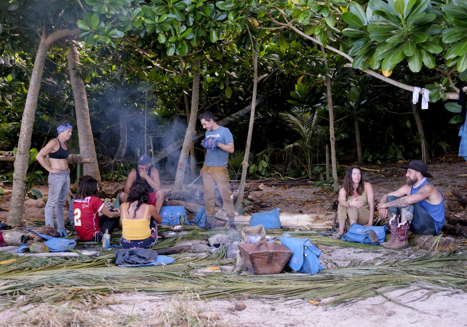 Sele Tribe camp Survivor Winners at War episode 2