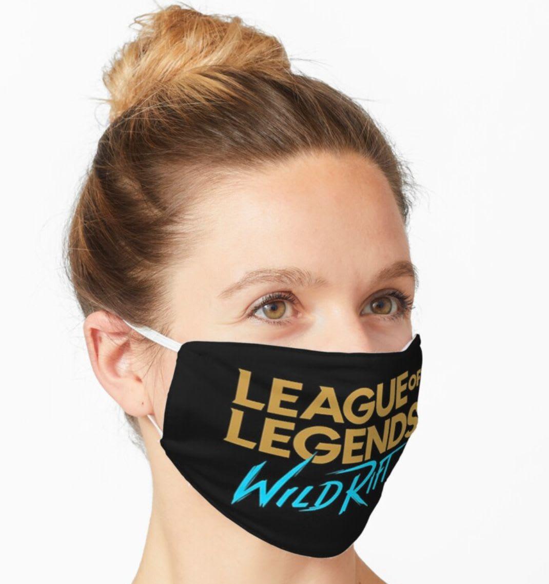 Descubre la mascarilla con el logotipo de League of Legends: Wild Rift de Vincent Sayson en Redbubble.