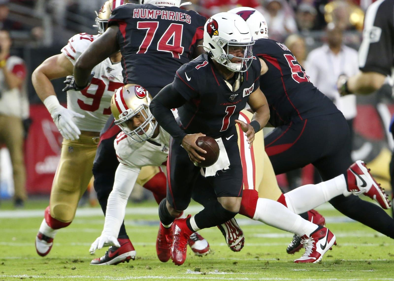 Kyler Murray, Cardinals, 49ers