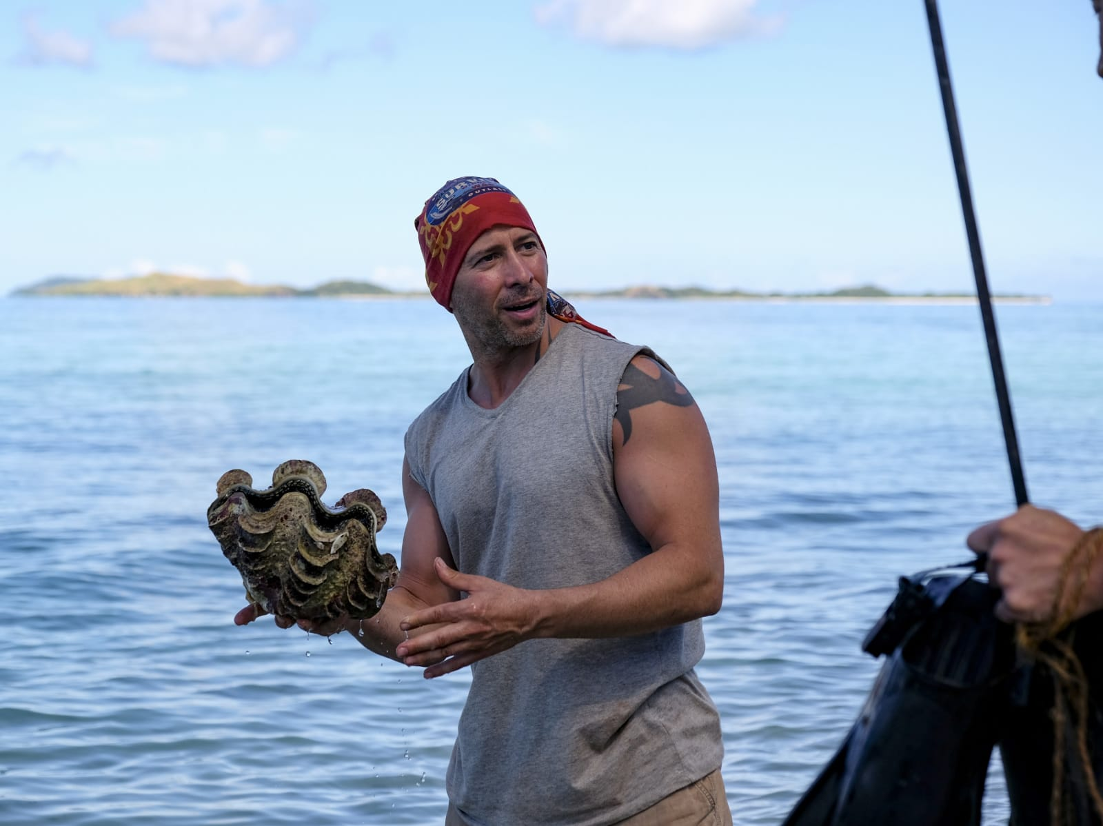 Tony Vlachos clamming Survivor Winners at War episode 2
