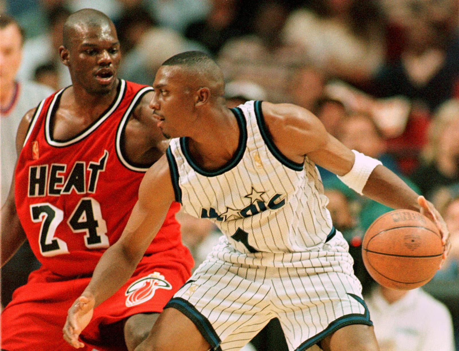 Anfernee Hardaway, Orlando Magic, Jamal Mashburn, Miami Heat