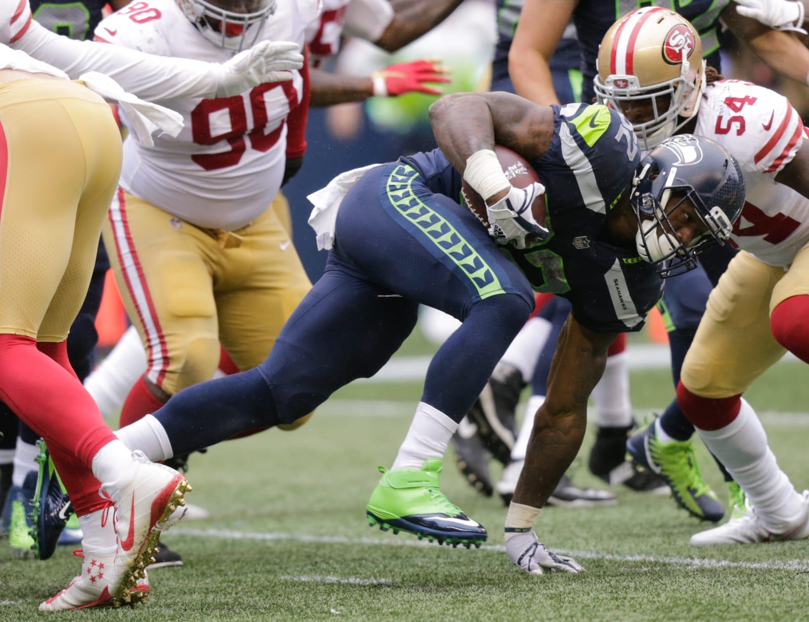 Chris Carson, Seattle Seahawks, SF 49ers