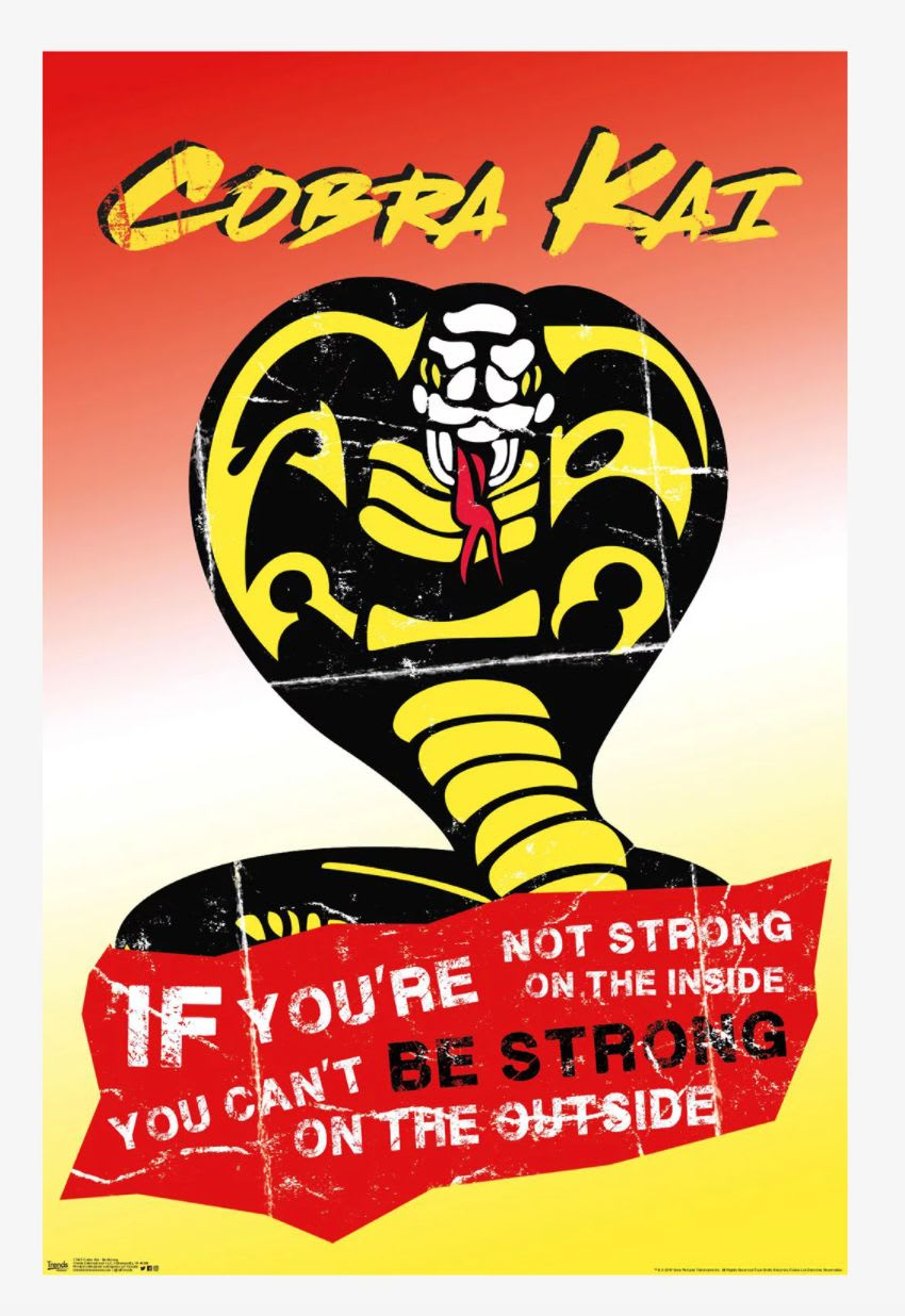 Discover the 'Cobra Kai' motivational poster at Hot Topic.