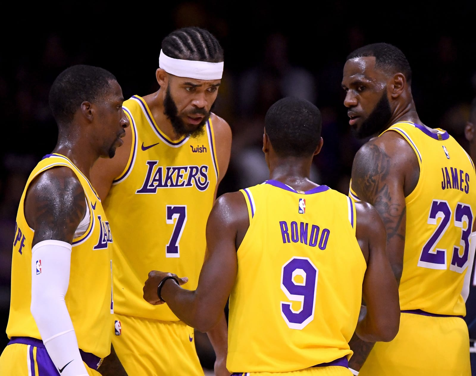 Los Angeles Lakers Los Angeles Lakers team evaluation before suspension