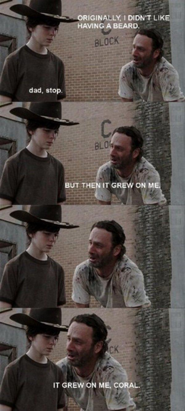The Walking Dead Happy Father S Day With Rick And Carl Memes