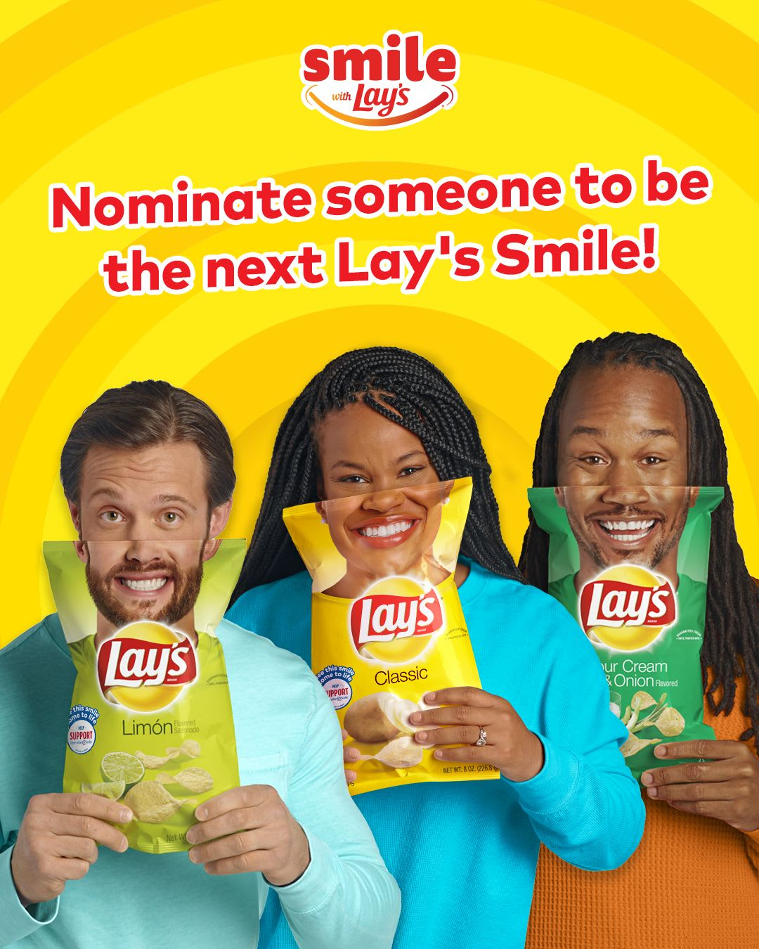 Lay's Smiles, Lay's New Flavors