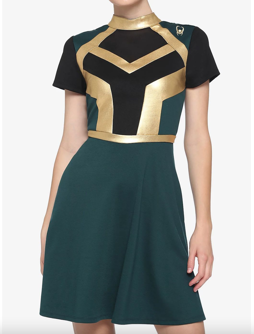 Discover Her Universe's Loki-inspired dress at Hot Topic.