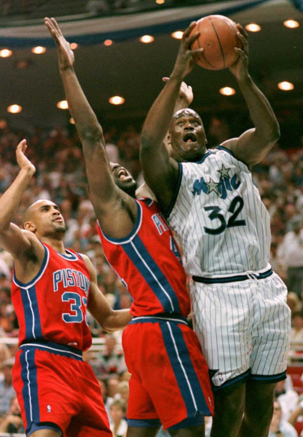 Shaquille O'Neal, Orlando Magic, Detroit Pistons