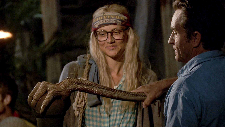 Kelley Wentworth voted out Survivor Edge of Extinction