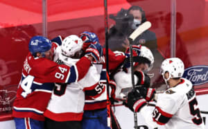 Frustrations boil over as a scrum ensues against Ottawa on the 3rd