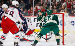 NHL: Columbus Blue Jackets at Minnesota Wild