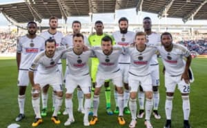 May 28, 2016; Commerce City, CO, USA; Philadelphia Union players pose for a picture prior to the match against the Colorado Rapids at Dick's Sporting Goods Park. Mandatory Credit: Isaiah J. Downing-USA TODAY Sports