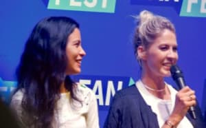 Actors Danay Garcia and Jenna Elfman at the Fear The Walking Dead Panel at Fan Fest Nashville Photo credit: Tracey Phillipps