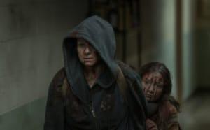 Samantha Morton as Alpha, Havana Blum as Young Lydia - The Walking Dead _ Season 10, Episode 2 - Photo Credit: Jace Downs/AMC