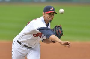 Sep 30, 2015; Cleveland, OH, USA; Cleveland Indians starting pitcher Carlos Carrasco (59) delivers in the second inning against the Minnesota Twins at Progressive Field. Mandatory Credit: David Richard-USA TODAY Sports