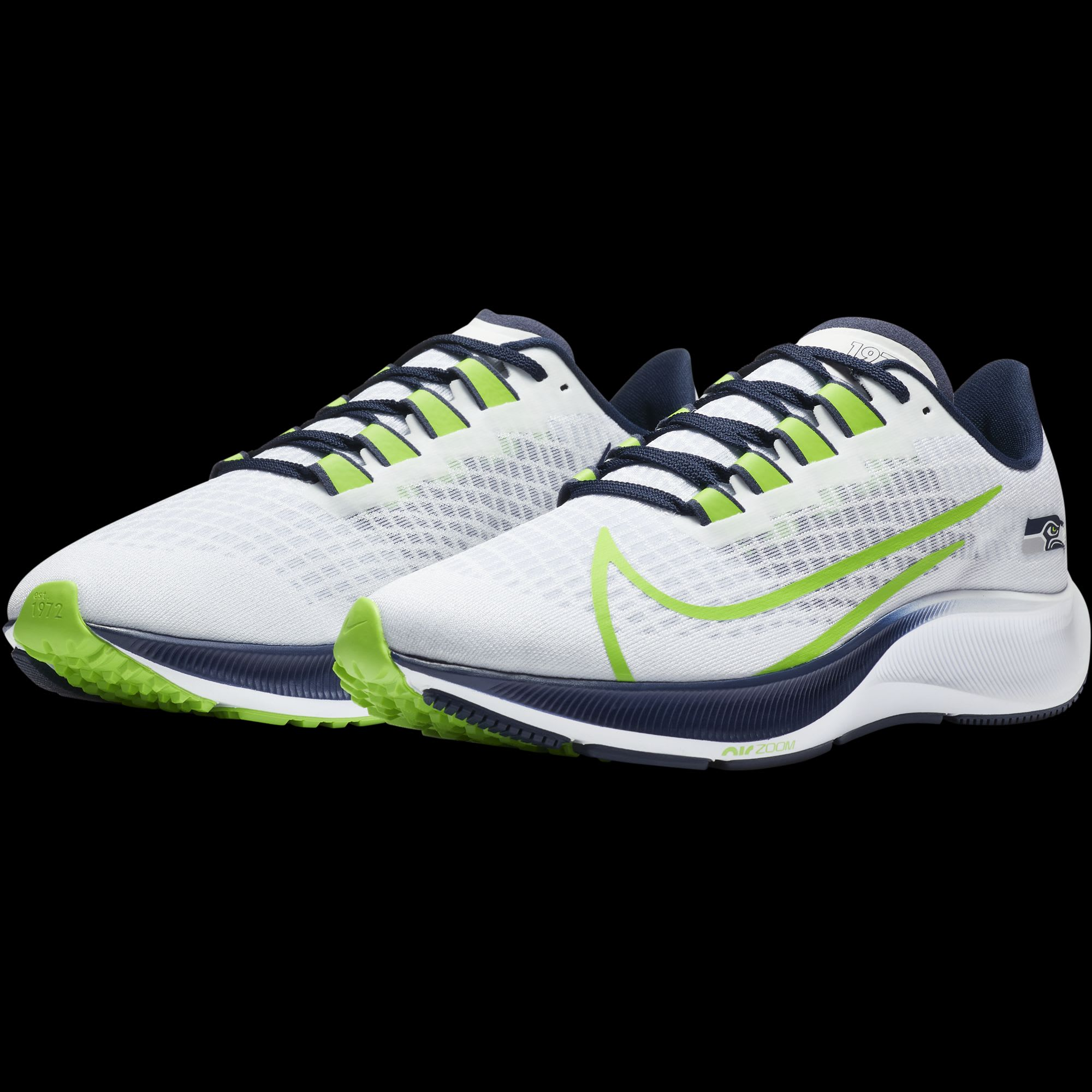 These new Seattle Seahawks Nike running shoes are awesome