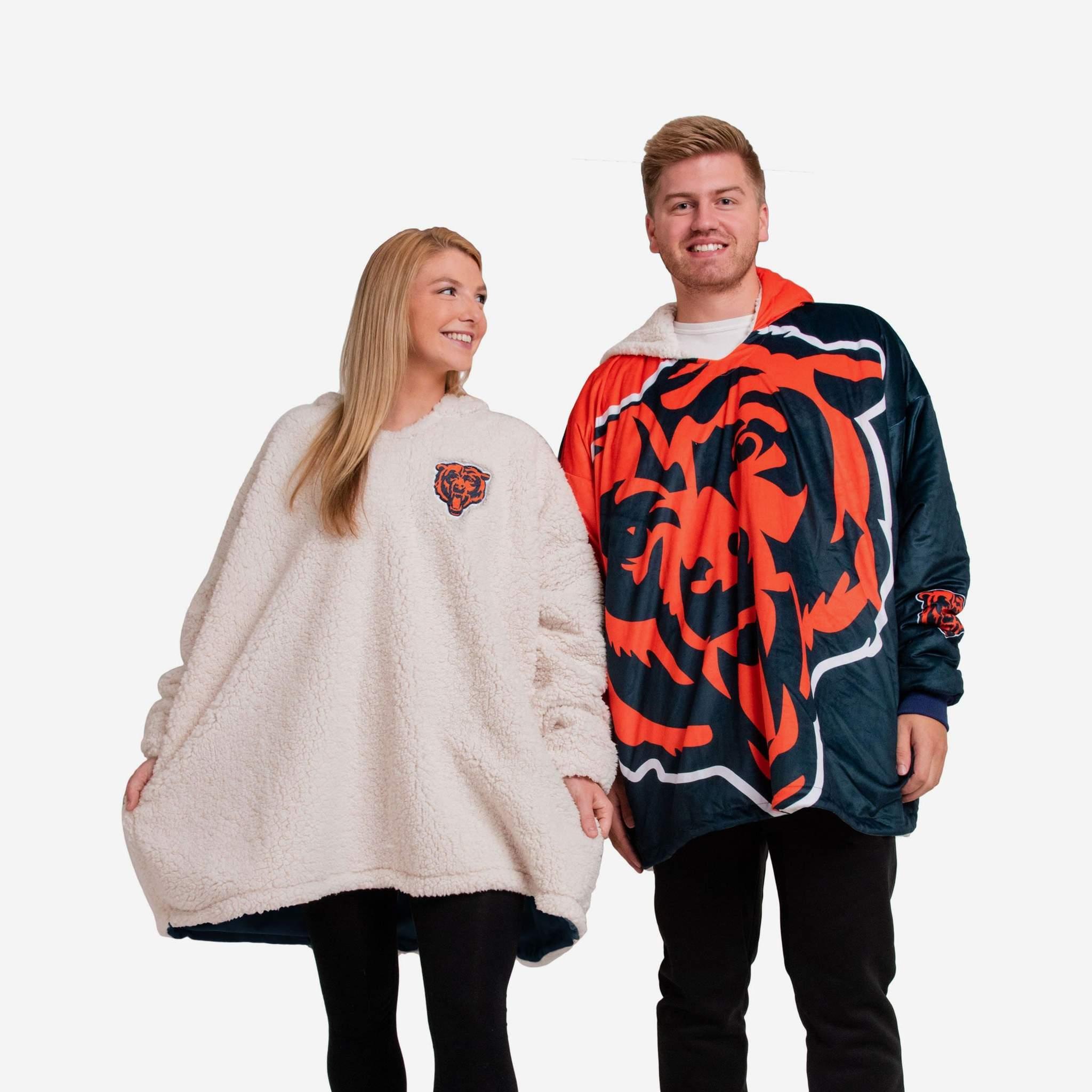 chicago bears sweatshirt blanket