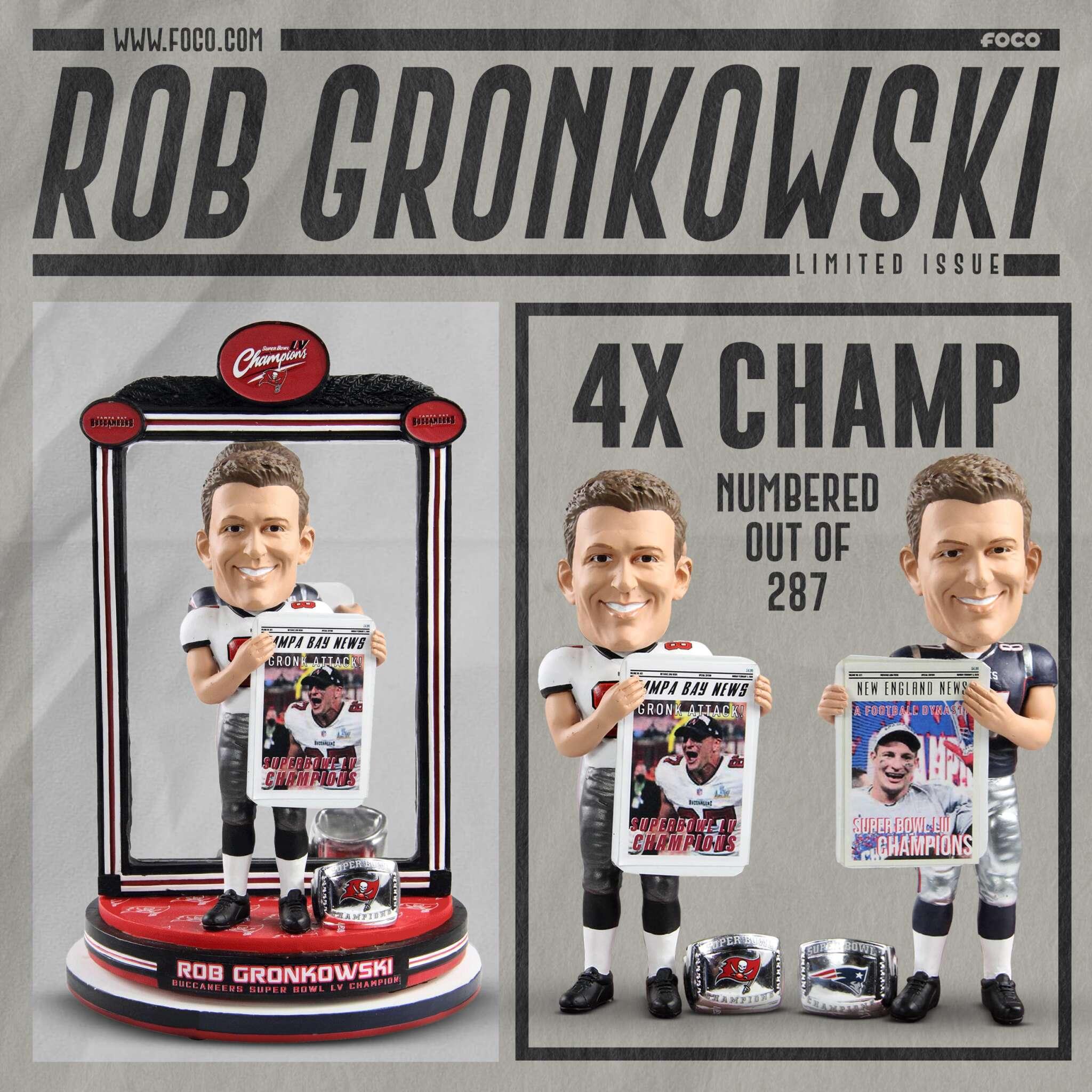 NEW England Patriots Rob Gronkowski Bobblehead