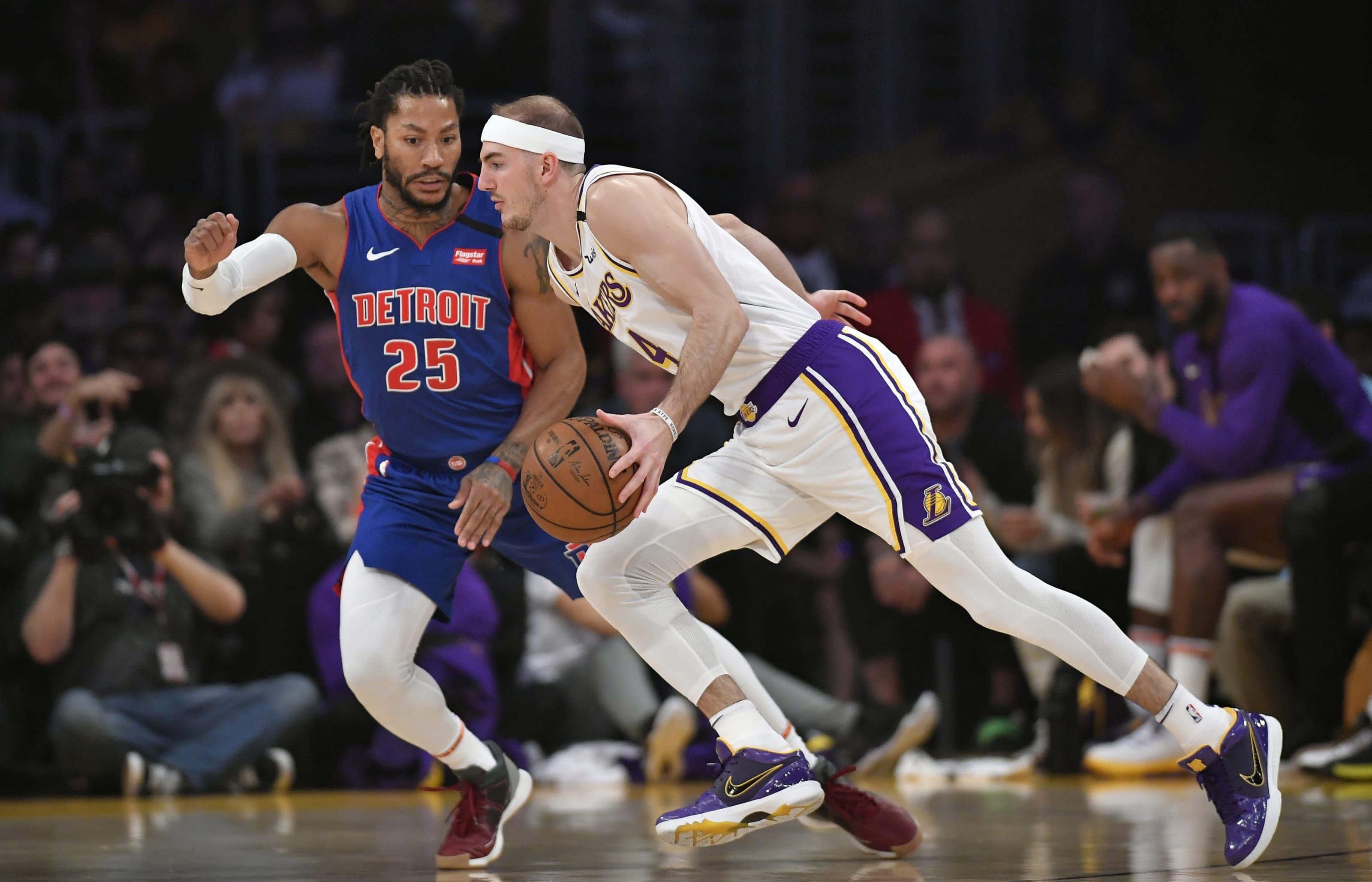 Detroit Pistons: Derrick Rose, Los Angeles Lakers: Alex Caruso