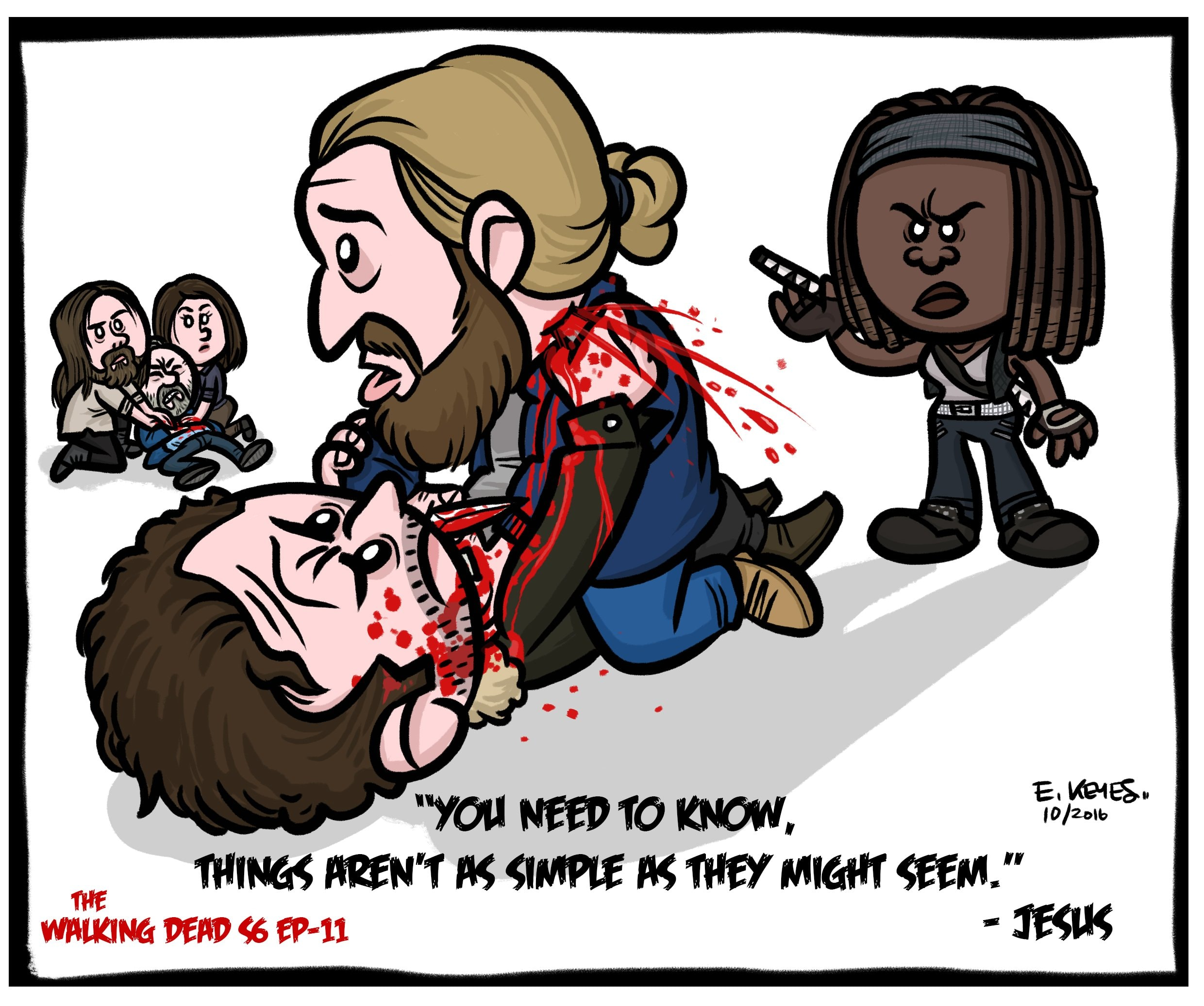 The Walking Dead Cartoonist Draws Tributes To Episodes