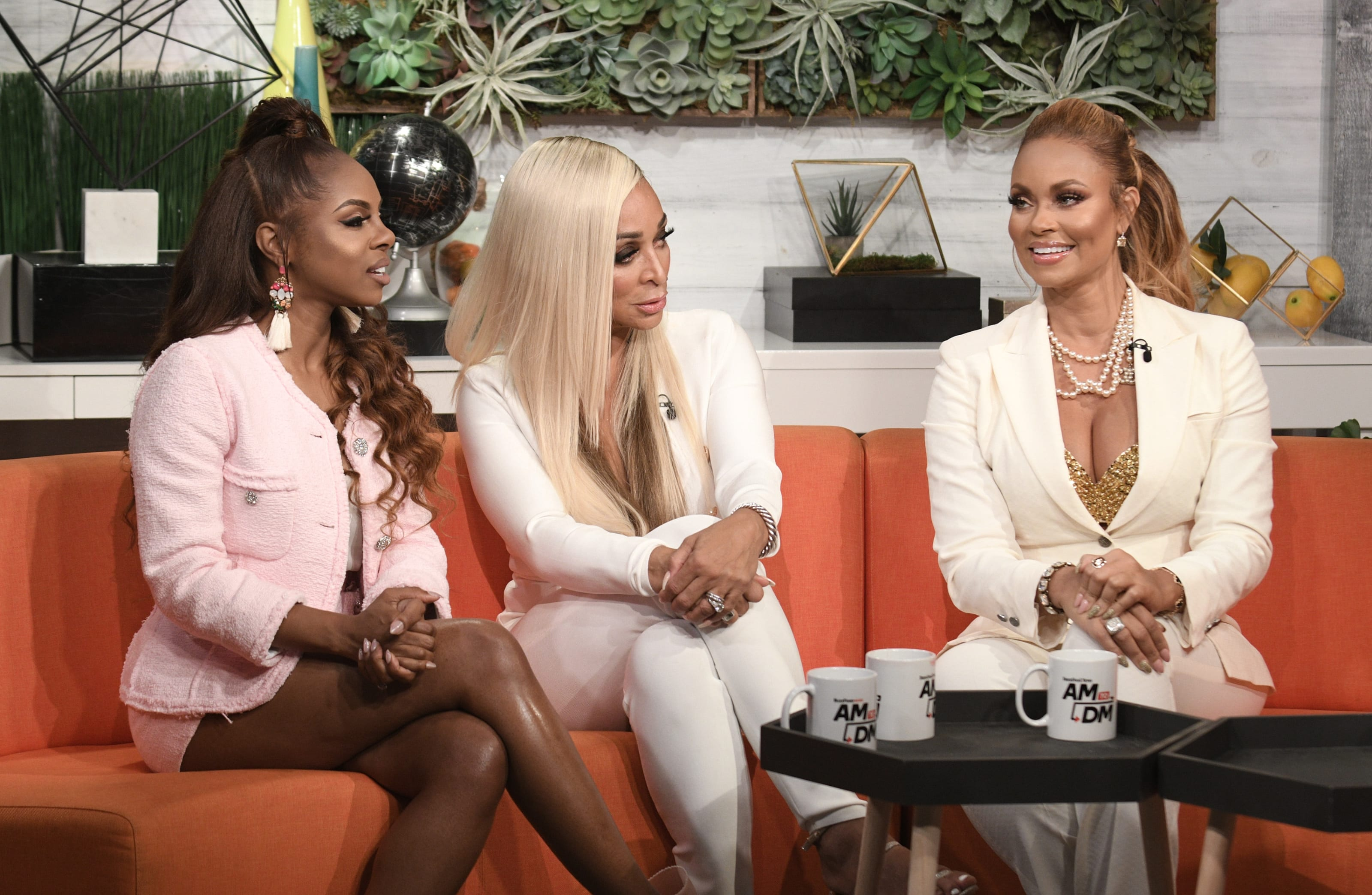 "Candiace Dillard, Karen Huger and Gizelle Bryant of the reality series ""Real Housewives of Potomac"""