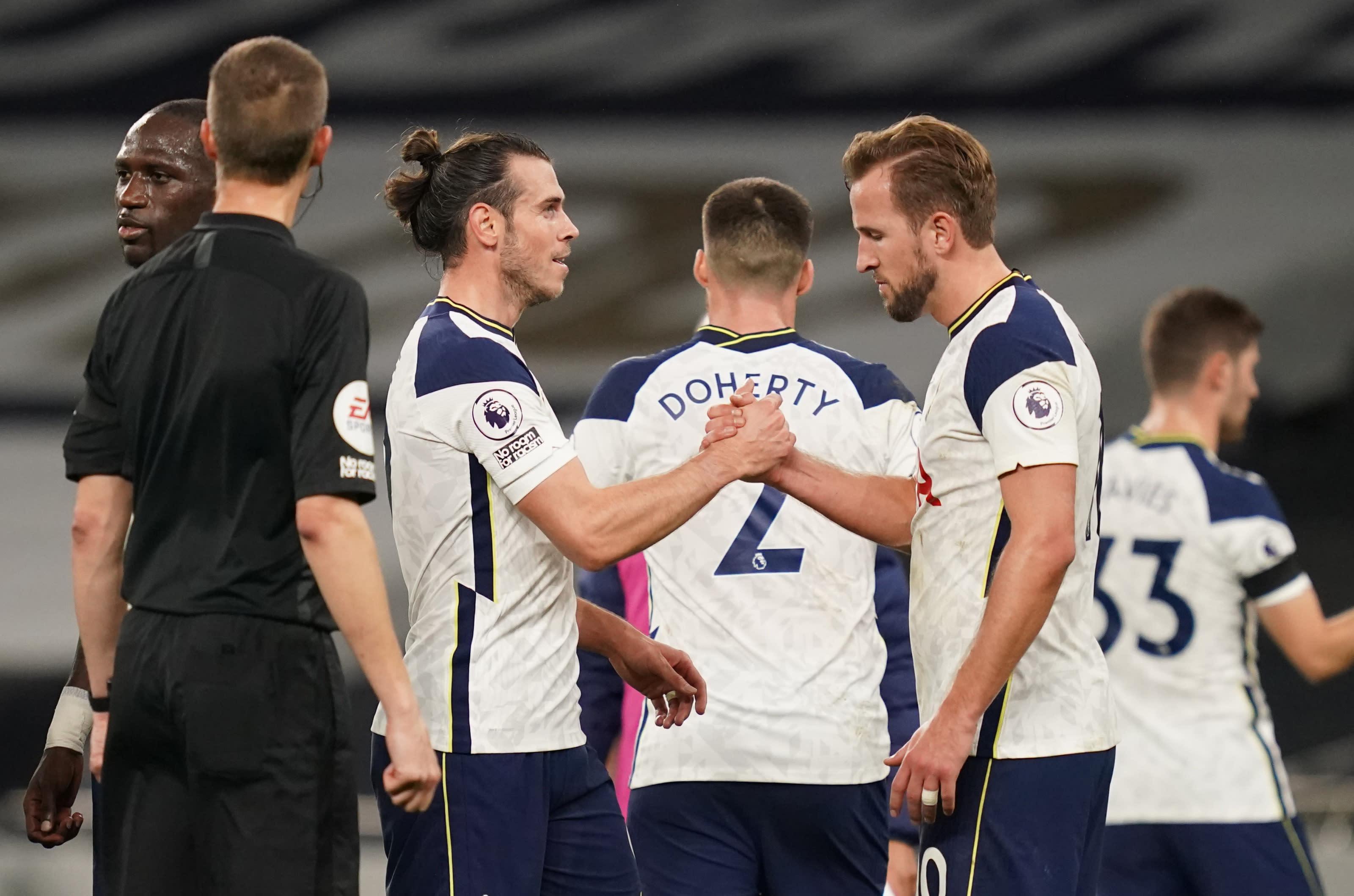 Gareth Bale with Harry Kane Tottenham