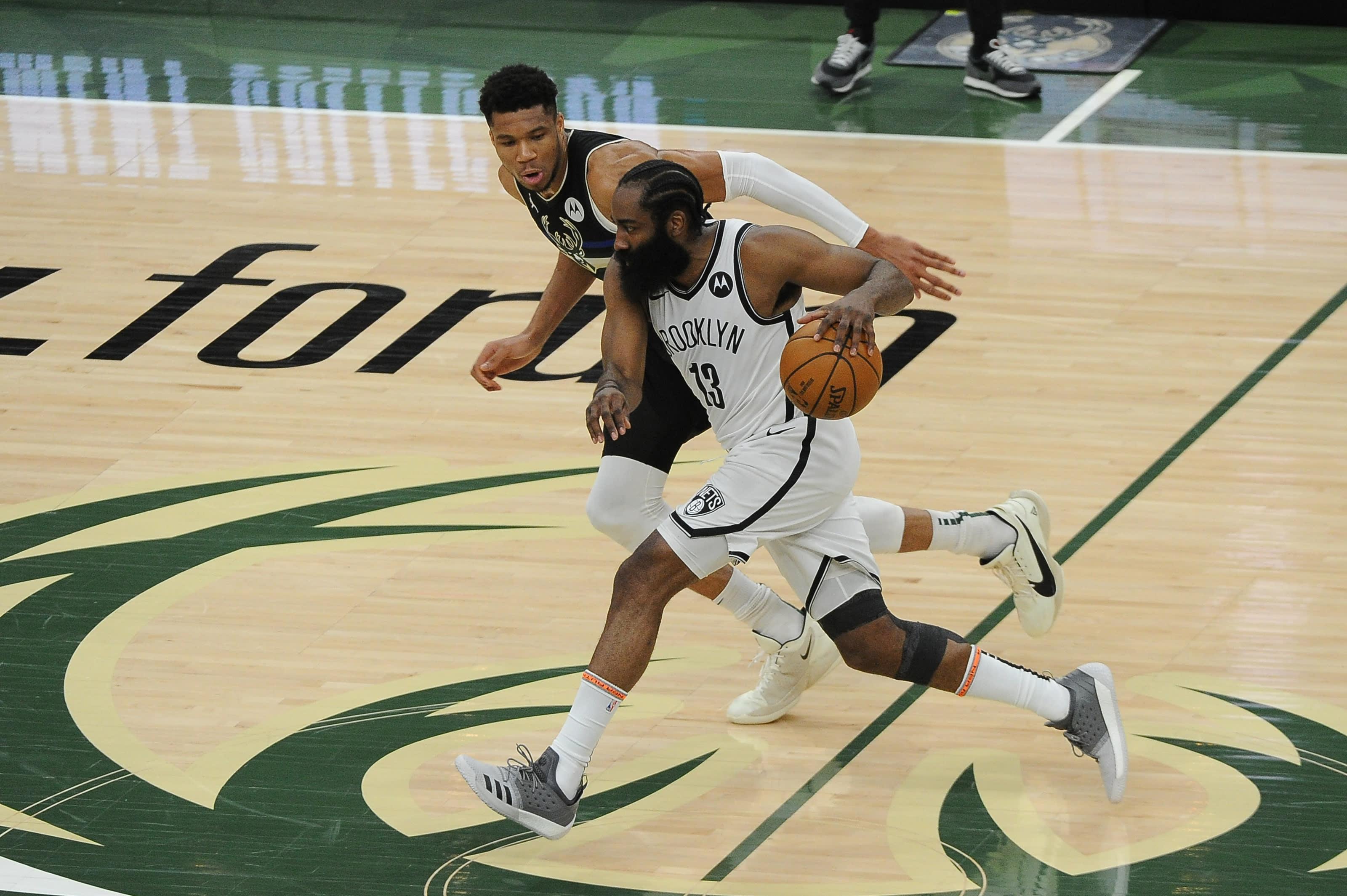 Milwaukee Bucks: Giannis Antetokounmpo, Brooklyn Nets: James Harden