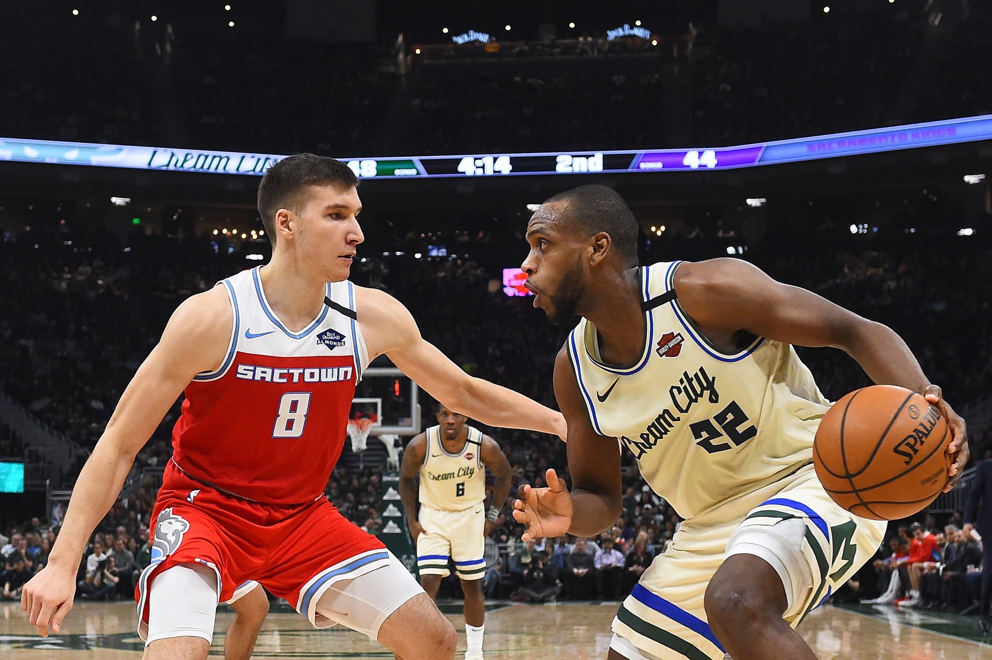 Milwaukee Bucks: Khris Middleton, Sacramento Kings: Bogdan Bogdanovic